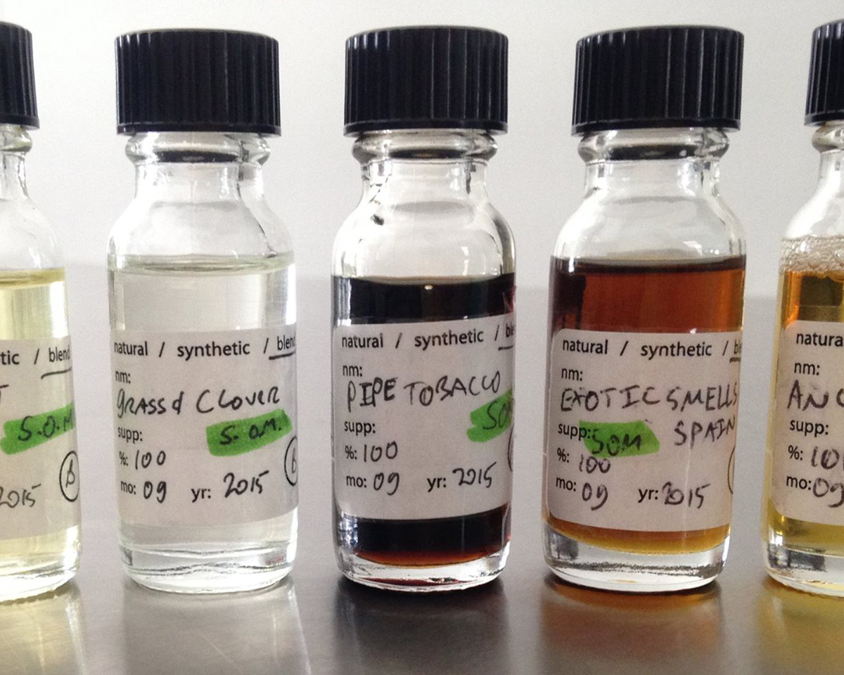 Custom Smell-O-Vision scents, reimagined. Courtesy The Institute for Art and Olfaction