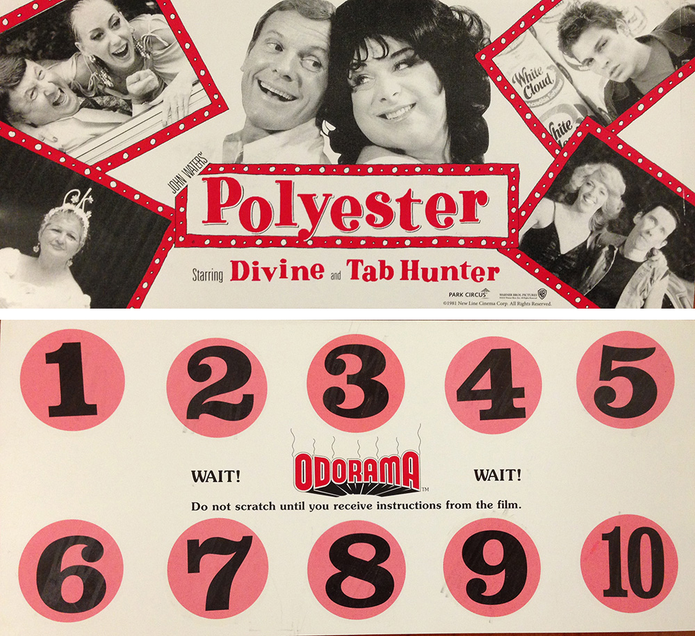 Scratch and sniff card from John Waters' Polyester